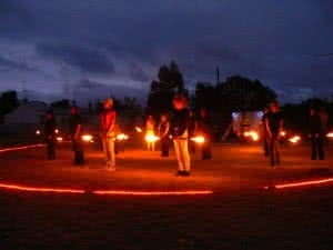 One of the regular fireshows developed and performed by Goulburn's Lieder Theatre